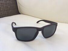 New Mens Sunglasses wood effect cherry Holbrook Style Black Lens + case (011)