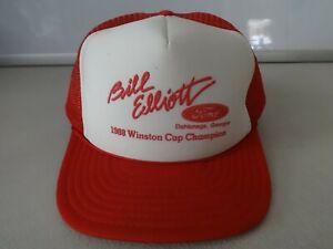 NWOT 1988 Winston Cup Champ Bill Elliott Ford Snapback Mesh Ballcap Men OSFA