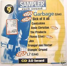 GARBAGE-FLUXUS-THE PRODUCTS-L7 cd promo Italy mint