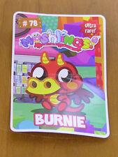 Moshi Monsters Burnie Card New Unused code