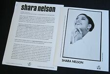 SHARA NELSON 'WHAT SILENCE KNOWS' 1994 PRESS KIT--PHOTO