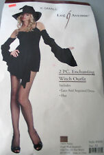 Sexy Enchanted Witch Costume XSmall Black Cosplay Fancy Dress