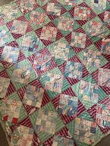Vintage Patchwork Quilt 170 X 182 Cm