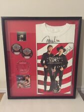 Brooks & Dunn Country Music Autographed Signed Tshirt & CD Custom Framed 24x27