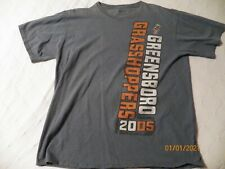 1 Greensboro Grasshoppers blue orange t-shirt minor league baseball Pitt Pirates