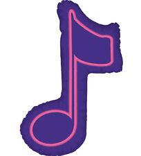 """MUSIC NOTE BALLOON 36"""" HIGH PURPLE SINGLE MUSIC NOTE SHAPE BETALLIC BALLOON"""