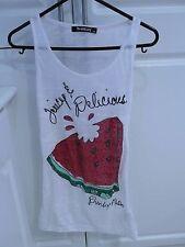 Punkyfish Red & White Ladies Girls Punky Fish Vest Top Size XS