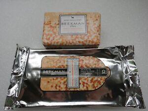 Beekman 1802 Goat Milk Facial Cleansing Wipes & Soap  Set Honey Orange Blossom