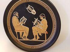 Greek Music School Ancient Hellenic Art Pottery Plate