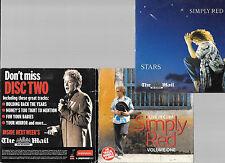 3 promo newspaper cds SIMPLY RED stars + live in cuba
