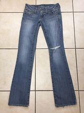Guess Daredevil Boot Cut Jeans Women's Size 28x32 Blue Stretch Denim Low Rise