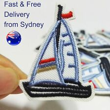 Sailing ship Iron on patch Sail regatta boat marine vessel - iron-on patches