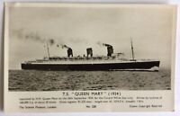 Cunard TS Queen Mary Real Photo Postcard