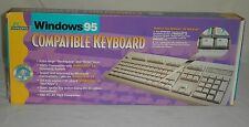 Vintage Windows 95 Compatible Keyboard IBM PC-AT, 6 pin connector New In Box