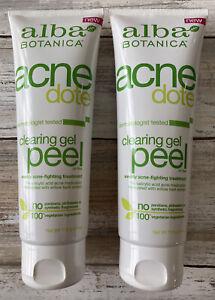 Alba Botanica Acnedote Clearing Gel Peel Acne Fighting Oil Free Salicylic - 2pk