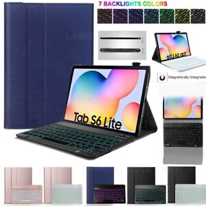 """Backlit Removable Keyboard Case Cover For Samsung Galaxy Tab S6 Lite 10.4"""" P610"""