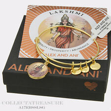 Authentic Alex and Ani Lakshmi Yellow Gold Charm Bangle