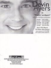 DEVIN AYERS IN CABARET UNUSED ADVERTISING COLOUR POSTCARD (a)