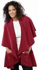 JANSKA Annie's Wrap Cape Shawl Polartec Reversible Micro Fleece One Size women