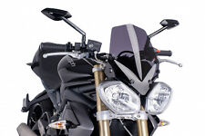 PUIG NAKED N.G. SPORT SCREEN TRIUMPH STREET TRIPLE R 13-16 DARK SMOKE