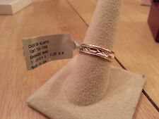 10Kt Solid White & Yellow Gold Diamond cut Wedding Band Ring Szs 9, 11,11.5