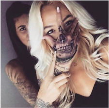 Waterproof Temporary Tattoo Sticker Skull Head Fake Tatto Flash Tatoo Hand Foot