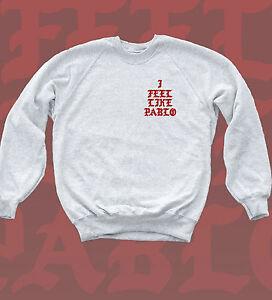 I Feel Like Pablo Sweatshirt Kanye Yeezus Badge Print Hip Hop Music Jumper