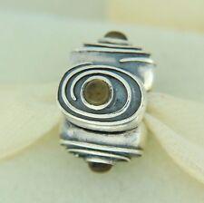 Authentic Pandora 790560CI Hypnotize Citrine Clip Sterling Silver Bead Charm