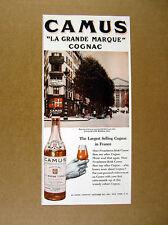 1947 Camus Cognac Madeleine Paris street scene photo vintage print Ad