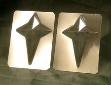 MINI STAR CHOCOLATE MOULD/MOLD - Christmas cake decorating/sweet making. Pk of 2