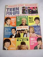 JUNE 1965 TEEN PIN-UPS vintage teen magazine - HAYLEY - BEATLES - ELVIS