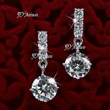 Made With Swarovski Crystal Earrings 018K White Gold Filled Stud
