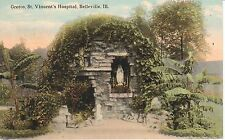 1916 The Grotto, St. Vincent's Hospital in Belleville, IL Illinois PC