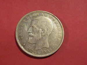Romania 1906 5 Lei Silver Coin