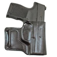 DeSantis E-Gat Belt Slide Holster Sig P365 Right Hand Black  Leather