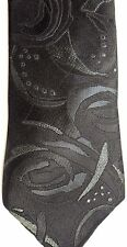 "Bugle Boy Men's Polyester/Viscose Tie 56.5"" X 2.75"" Dark Colored Abstract"