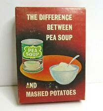 Vintage Prank Box Gag Funny Gift Difference Between pea Soup Mashed Potatoes