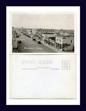 CANADA SASKATCHEWAN ROSETOWN WARD REAL PHOTO POSTCARD MAIN ST NORTH CIRCA 1930