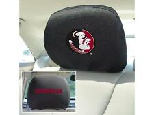 """FanMats Florida State Head Rest Cover 10"""" x 13"""" Sold In Pairs FSU Licensed NCAA"""