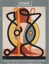 Catalogue vente enchères Loudmer - Tableaux modernes - Sculptures. -  1992