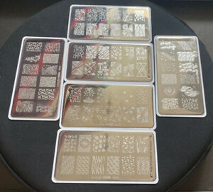 Whats Up Nails - 6x Stamping Plate for Nail Art Design