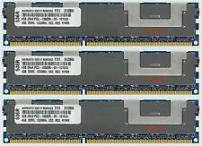 12GB (3X4GB) DDR3 MEMORY RAM PC3-10600 ECC REG DIMM ***FOR SERVERS***