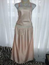 "Retro ST MICHAEL Slinky Peach Satin Girly Femme Nighty Nightdress 36"" Bust  [B21"