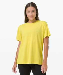NWT Lululemon all yours tee~SIZE:4,6~ Yellow Serpentine