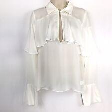 Cynthia Rowley Silk Georgette Top blouse small white