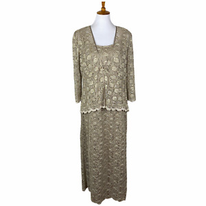 R&M Richards Women's Lace 2 Piece Dress Outfit- Mother of the bride- NEW Sz. 14