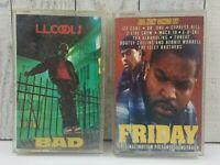 Vintage 1987 LL Cool J BAD & Friday SoundTrack Ice Cube Dr Dre Cassette Hip Hop
