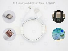 2M Apple Genuine Sync & Charger Lightning USB Data Lead Cable For iPhone/7/8/X
