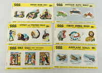 vintage decorative seal sticker lot eureka dennison 6 booklet lot cowboy cars