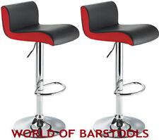DESIGNER BREAKFAST BAR STOOL IN BLACK & RED